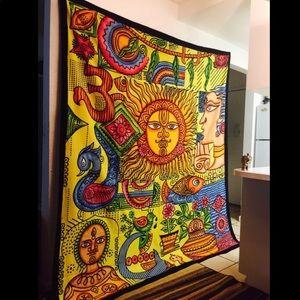Sun Brush Tapestry Wall Hanging